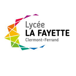 Logo lycée La Fayette - Clermont-Ferrand - Version pour fond photo - 250 x 250 pixels