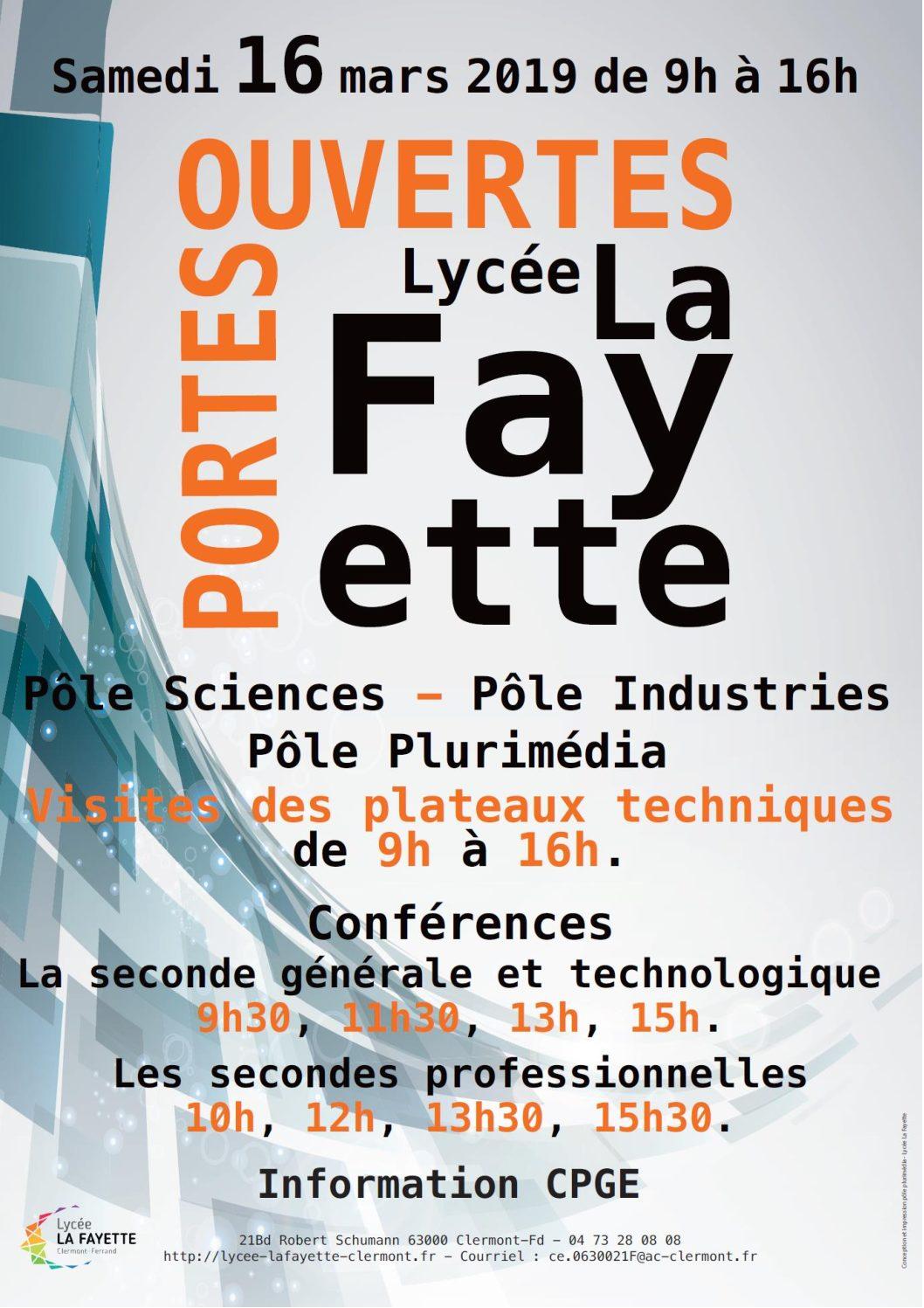 Lycée La Fayette Se Former Là Où Lavenir Se Profile